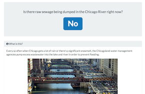 Is there sewage in the Chicago River?